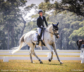 Ace Kearney and Freedoms Fire in the Saddleworld Bowral EvA95 JNR.