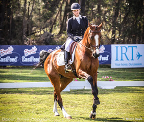 Rachael Lee and Lansina skipping their way to equal 2nd Place (64.86%)  in the WALLABY HILL CCI4*-S.