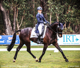 Amanda Ross and RLE Cavalier Vivendi looking sharp with a 68.30% and 4th Place heading into Cross Country tomorrow in the OTTO SPORT AUSTRALIA CCI3*-L.
