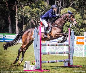 William David and Lamondale Giorgio  posted a clear showjumping round to take out the win in the GPG CCN1*-L JNR class. They finished on their dressage score 31.30 penalties.