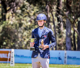 In the Proudly Supporting Assistance Dogs Australia CCI2*-L JNR class , it was Oliver Barrett and Oliver Barrett(!!!) taking out the top two spots on the podium. Sandhills Special took out the win, with Oliver's second ride Ballyhoo taking out second place - both finishing on their dressage score.
