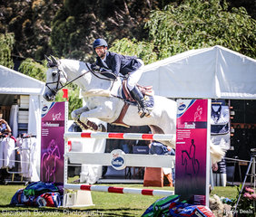 New Zealander, Clarke Johnstone smiling his way through the BUCAS CCI4*-L, where he placed 2nd.