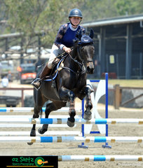 Charlie Robinson rode her final horse, Pure Obsession in the 90cm Thoroughbred class and the pair managed to take out the win in the Slipper Class.