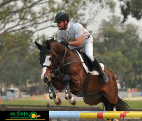 With multiple rides during the day, Billy Raymont rides Tulara For Chico in the first qualifying round for the Rising Stars Series at the 2019 Chatham Park Sydney Summer Classic.