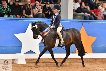 Victoria also claimed the Runner Up Child's Small Pony Championship award when Alexandra Bowen rode Sandra Bowen's, 'Barindale Silhouette' to take the Reserve title.