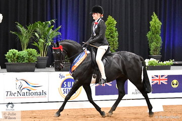 Riding for Victoria, Shae Latimer rode her, 'Classic Image of Sefton' to claim the Child's Large Galloway Runner Up award.