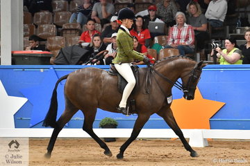 Successful Victorian young rider, Izabella McIntyre rode her own nomination, the successful, 'Meteor Showers' to take out the Child's Small Show Hunter Galloway Runner Up award.