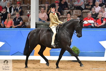 Representing NSW Elizabeth Taylor rode Hunter Taylor's successful, 'EBL One Night In Paris' to take out the Child's Large Show Hunter Galloway Runner Up award.