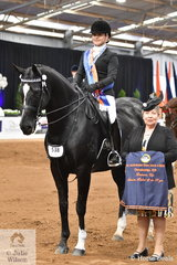 Naomi Karutz rode Riley Marin's, 'Dreamtime Lomaxx' to take out the Senior Rider 18-25 Years Runner Up award on the final day of the 2019 Ego Sunsense Australasian Show Horse and rider Championships.