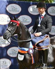 Matthew Snell from NSW rode his lovely, 'Headley Park Black Label' to take out the Large Galloway Runner Up award at the 2019 Ego Sunsense Australasian Show Horse and Rider Championships.