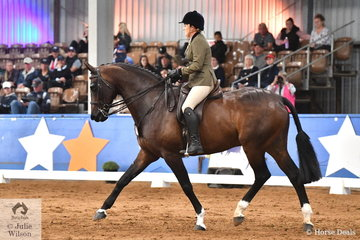 Representing South Australia, Melissa Harding rode her impressive, 'Danson Dakota' by Der Van Wedel (imp) to claim the Large Show Hunter Championship at the 2019 Ego Sunsense Australasian Show Horse and Rider Championship.