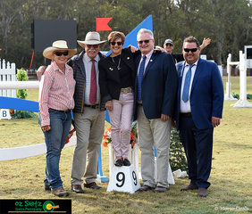 After a massive 4 days of show jumping, the official team of judges and course builders take a moment to enjoy the atmosphere and all their hard work. Rebecca Henry, Leopoldo Palacios, Fiona Bentley, Michael Archer and Kevin Taranto work very hard all year round and we wish them all the best into the new year.