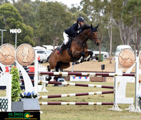 Flying over the Australian Penny jump in the 2019 Super Junior Final at Sydney Summer Classic was Jessica Galea riding her Warmblood x Thoroughbred mare Checka in her first Juniors Competition.