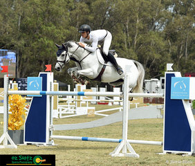 Elliott Reeves and Aveden Indigo made sure not to touch this jump in the Australian Jumping Teams Leagues at the Sydney Summer Classic.