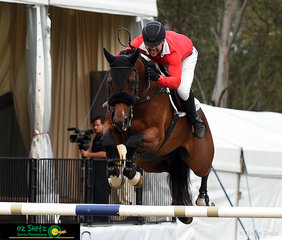 Clearing the last fence and taking the overall win out for Team Willinga Park in the final round of the Australian Jumping Teams League was Billy Raymont and Anton.