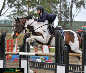 Gaby Herbosa's horse Kaloona Virago tried his heart out in the Jump Off in the Amateur Rider Series getting an impressive time of 33.04 seconds at the Sydney Summer Classic.