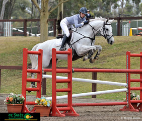 Clearing fence 3 beautifully in the 1.30m class on the final day of Sydney Summer Classic was Tori Stuckey riding Finch Farm Cab Sav.