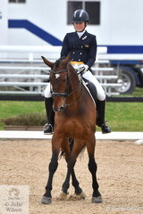 Isabelle Luxmoore rode Feru to third place in the FEI Intermediate B.