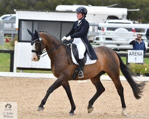 Jessica Hivon and Greenoaks Weltmann took second place in the FEI Intermediate B.