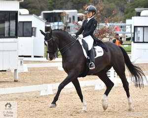 Monica Bird rode Bourgogne to fourth place in the FEI Intermediate B.