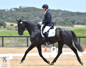 David Shoobridge rode Toto Nation De Jeu to second place in the 4 year old Young Horse.