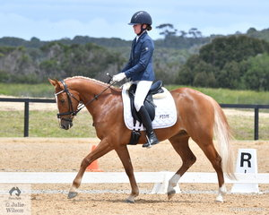Caitlyn Porter rode Penmain Mr President to win the 4 year old Young Pony.