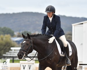 Robyn Todd was pleased with her Sharkeys Black Star that took second place in the Pony Novice 2B, scoring 68.30%.