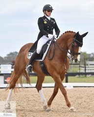 On a cool and breezy summers day, Julie Weir rode Rashada in the FEI Prix St Georges.