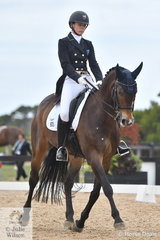 Javais Ham rode Gladwin to twelfth place in the large class for FEI Prix St Georges, scoring 65.04%.