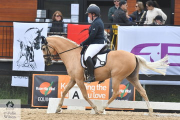 Rachel Morrison rode Murraydale Park White Opal to sixth place in the Pony Novice 2B.