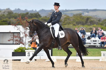 Marvin Smink rode Haya to ninth place in the FEI Grand Prix CDN.