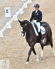 Ruth Schneeberger from SA rode Roxleigh Fidelio to fifth place in the FEI Prix St Georges, scoring 66.86%.