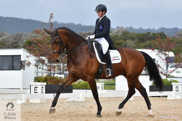 Charlotte Pederson rode Hill Cottage Jazmira to twelfth place in the FEI Grand Prix CDN.