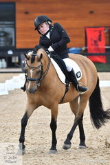 Para Equestrian, Bridget Murphy, took second place in the Grade 2 Freestyle riding, 'Dracmoore Flirtacious'.