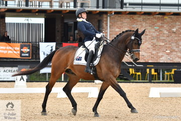 Para Equestrian Emma Booth scored a sensational  76.32% riding the imported, 'Mogelvangs Zidane' to win the Grade 3 Freestyle.