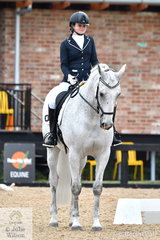 Para Equestrian, Marnie Clapham pictured at the start of her test, rode , 'Freedom Spyda' to win the Grade 1 Freestyle.