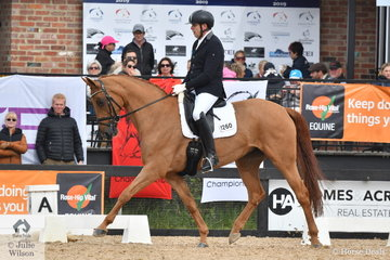 """Para Equestrian, Stuart Drysdale rode his, 'Blueberry 20"""" to win the Grade 5 Freestyle."""