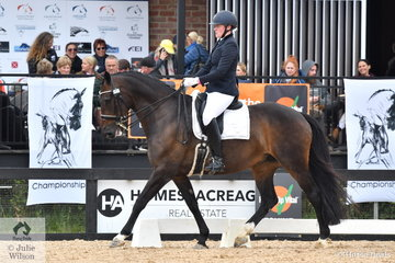Matilda Carnegie rode, Devil's Chocolate' to take second place in the Grade 4 Para Equestrian Championship.