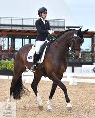 Zoe Vorenas rode the Maurie and Jane Bruce bred, 'Neversfelde Kipling' out of the great Neversfelde Kudu to claim the Grade 4 Para Equestrian Championshjip.