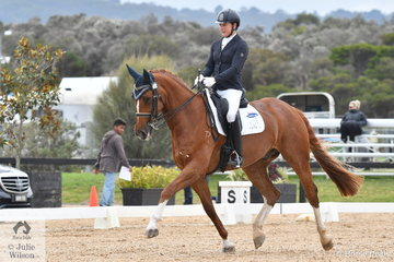 Lydoa Jackson from Tasmania took third place in the Medium Championship riding her, 'Malteaser R'.