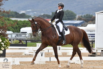 Jenny Bray rode ,CJP Diamond Dazzler' to second place in the Grand Prix Special.