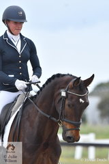 Luct Thorman rode , 'Furst Wallace' to take second place in both the Participation Novice 2A and 2B.