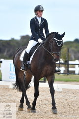 Alex Benson rode , 'Wilky Purple Sands ' to win both the Participation Novice 2A and 2B.
