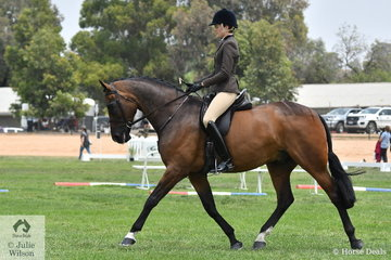 Samantha McMaster rode her 'Somerset Hit' to claim both  the First Season Show Hunter Hack and Rising Star Hack/Hunter Reserve Championships.