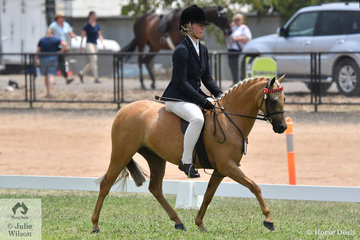 Michelle Paynter made Rising Star Small Pony Top Five with her own, Anne Paynter and Amanda Hewitt's, 'Thorwood Gold Class.
