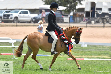 Ebonie Lee rode the Lee Family's nomination, 'Mandalay Spring Harmony' to claim both the First Season and Rising Star Small Pony Championships.