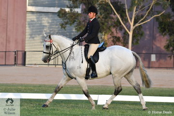 Riley Shannon-Winzer made Racing Victoria OTT Championship Top Ten riding his successful Show Hunter, 'Parishon'.