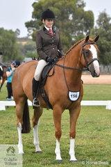 Rebecca Keane made Top Five Show Hunter Hack with her impressive, 'Dreamtime Lyrixx' at the International Animal Health 2020 VAS Ltd Show Horse Championships.