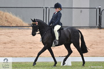 Zoe Phillips rode her own and Rebecca Phillips', 'Debanlay Magician' to make Top Five in the Open Large Pony Championship.