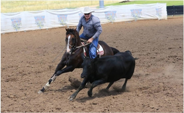 Gerald O'Brien competing in the 2018 National Finals at ALEC Tamworth. Photo: ABCRA